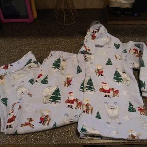Size 4 Pottery Barn Kids Rudolph pajamas